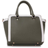LS00255A - Grey / White Grab Tote Handbag