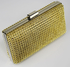 LSE0029 - Gold Sparkly Diamante Evening Clutch