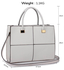 LS00153XL - Wholesale & B2B Large White Fashion Tote Handbag Supplier & Manufacturer