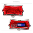 LSE00297 - Wholesale & B2B Red Sequin Peacock Feather Design Clutch Evening Party Bag Supplier & Manufacturer