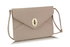 LSE00217A  - Nude Twist Lock Flapover Clutch Purse
