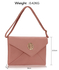 LSE00220A -  Nude Large Flap Clutch purse