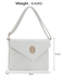LSE00220A -  White Large Flap Clutch purse