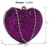 LSE00263 - Purple Glittery Hardcase Heart Clutch Bag