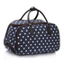 AGT00308D - Navy Light Travel Holdall Trolley Luggage With Wheels - CABIN APPROVED