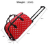 AGT00308D - Red Light Travel Holdall Trolley Luggage With Wheels - CABIN APPROVED