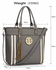 LS00404 - Grey Large Tassel Tote
