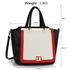 LS00358 - Wholesale & B2B Black / White / Red Metal Frame Tote Handbag Supplier & Manufacturer