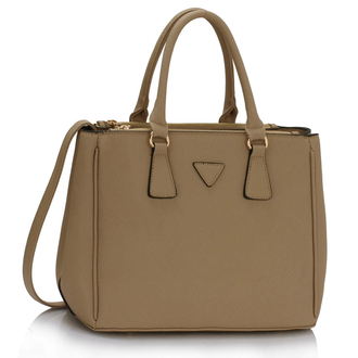 AG00184M  - Wholesale & B2B Taupe Tote Handbag Supplier & Manufacturer
