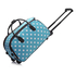 AGT00308D - Blue Light Travel Holdall Trolley Luggage With Wheels - CABIN APPROVED