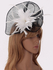 LSH00205 - Black / White Flower & Feather Fascinator on Comb