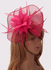 LSH00205 - Pink Flower & Feather Fascinator on Comb
