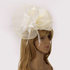 LSH00205 - Ivory Flower & Feather Fascinator on Comb