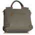 LS00237A - Grey / White Twist Lock Flap Grab Tote