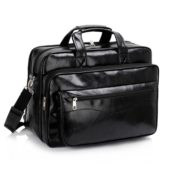 AG00256 - Unisex Black Laptop Office Bag