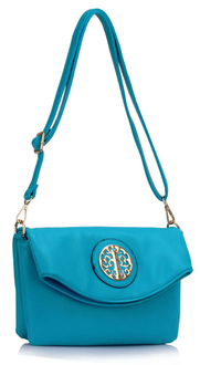 LS00371A - Teal Shoulder Cross Body Bag