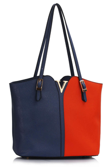 LS00409  - Blue / Orange Fashion Shoulder Bag