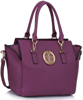 LS00353  -  Wholesale & B2B Purple Tote Handbag Supplier & Manufacturer
