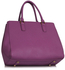 LS00349  - Wholesale & B2B Purple Tote Handbag Supplier & Manufacturer