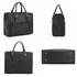 AG00366  - Black Front Pocket Grab Tote Handbag