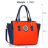 LS00353  -  Blue / Orange Tote Handbag