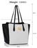 LS00403  - Wholesale & B2B Black / White Shoulder Bag With Metal Detail Supplier & Manufacturer