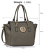 LS00353  - Wholesale & B2B Grey Tote Handbag Supplier & Manufacturer