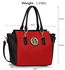 LS00353  - Black / Red Tote Handbag