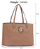 LS00407 - Nude Women's Large Tote Shoulder Bag