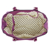 LS00410  - Wholesale & B2B Purple Padlock Tote Handbag Supplier & Manufacturer
