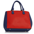 LS00410  - Wholesale & B2B Blue / Orange Padlock Tote Handbag Supplier & Manufacturer