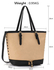 LS00315A - Wholesale & B2B Black/ Nude Zipper Tote Supplier & Manufacturer