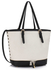 LS00315A - Black / White Zipper Tote