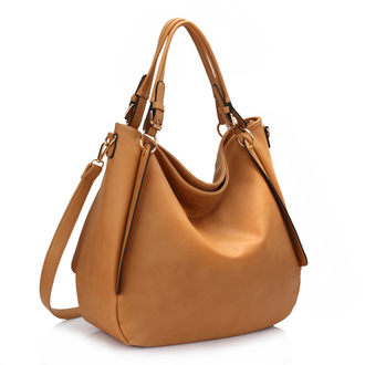 AG00448 - Large Nude Hobo Bag