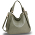 AG00448 - Wholesale & B2B Large Grey Hobo Bag Supplier & Manufacturer