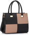 LS00153M - Black / Nude Fashion Tote Handbag