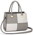 LS00153M - Grey /White Fashion Tote Handbag