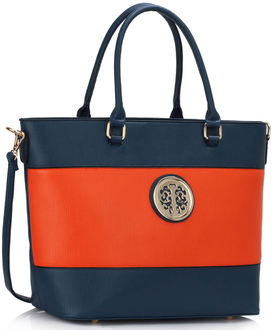 LS00406 - Blue / Orange Shoulder Handbag