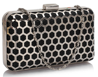 LSE00309 - Black Luxury Clutch Purse
