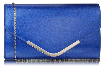 LSE00266 -  Blue Large Flap Clutch purse