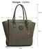 LS00417 - Wholesale & B2B Grey Tote Bag With Metal Accessories Supplier & Manufacturer