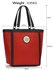 LS00401 - Red Fashion Tote With Stunning Metal Work