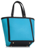 LS00401 - Teal Fashion Tote With Stunning Metal Work