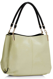 AG00243 - Wholesale & B2B Cream Snake - Effect Shoulder Bag Supplier & Manufacturer