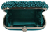 LSE00209 - Teal Beaded Pearl Rhinestone Clutch Bag