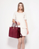 AG00319C - Burgundy Fashion Tote Handbag