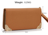 LSP1072 - Tan Purse/Wallet with Metal Decoration
