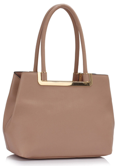 LS00441 - Nude Shoulder Handbag