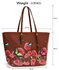 LS00297B - Brown Large Butterfly Print Tote Bag