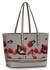 LS00460A - Wholesale & B2B Grey Zip Detail  Butterfly Print Tote Bag Supplier & Manufacturer